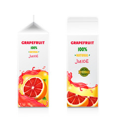 grapefruit juice package design vector image