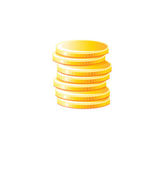 graphic gold coins vector image