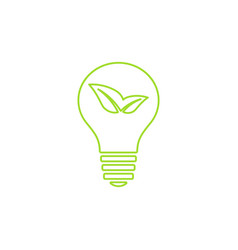 Green light bulb icon vector