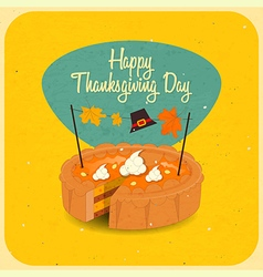 Happy Thanksgiving pie vector image