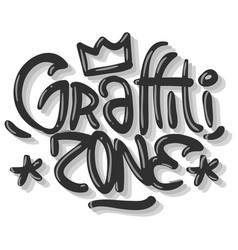 Hip hop related tag graffiti influenced label sign vector