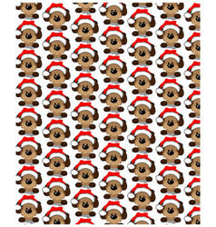Holidays seamless pattern with funny dog happy vector