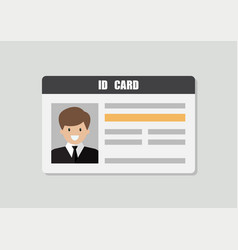 Id card with male photo vector