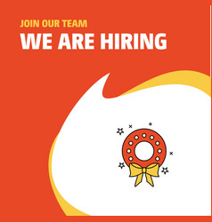 Join our team busienss company flowers ring we vector
