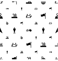 location icons pattern seamless white background vector image