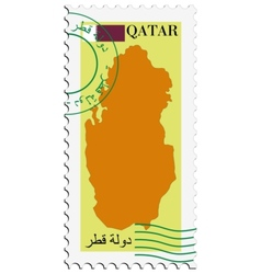 mail to-from Qatar vector image