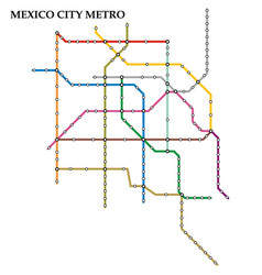 map metro subway vector image