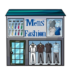 Mens fashion short vector image