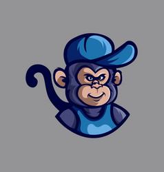 monkey cartoon logo vector image