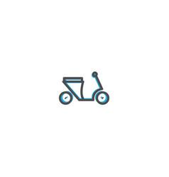 motorcycle icon design transportation icon design vector image