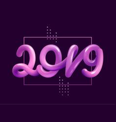 new year gradient figures 2019 design template vector image