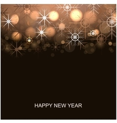 New year winter background vector image