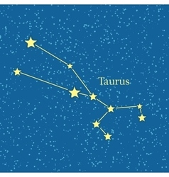 Night Sky with Taurus Constellation vector