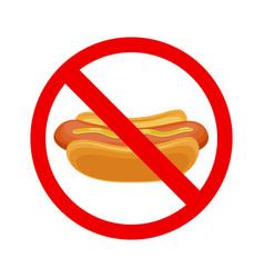 No fastfood sign vector