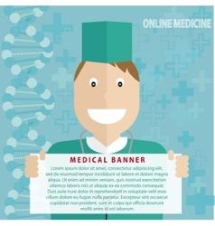 Online medicine banner vector