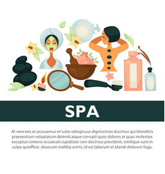 Oriental spa procedures for health and beauty vector