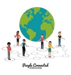 People connected design vector image