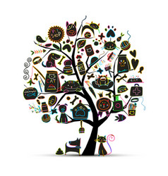 pet shop art tree for your design vector image
