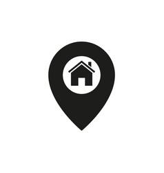 pin at home icon vector image