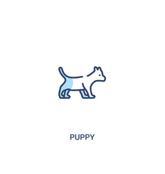 Puppy concept 2 colored icon simple line element vector