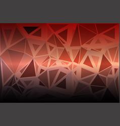 red orange purple random sizes low poly background vector image