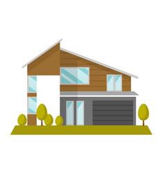 Residential house cartoon vector
