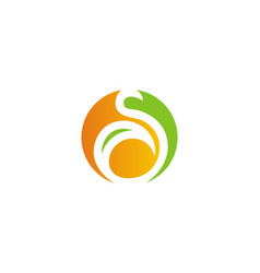 round letter s eco logo vector image