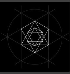 Sacred geometry david star vector