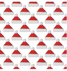 santa claus fashion red hat modern seamless vector image