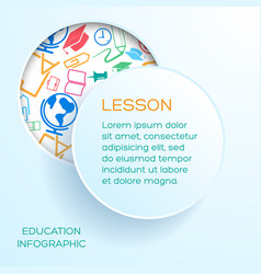 school learning infographics vector image