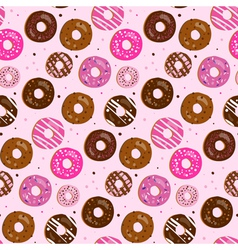 seamless pattern assorted donut vector image