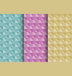 set of colorful abstract geometric seamless vector image