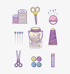 Set of craft supplies vector