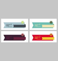 Set of design banner background vector