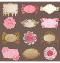 Set Vintage Paper Frame collection vector image vector image