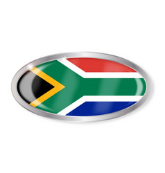 South africa flag oval button vector
