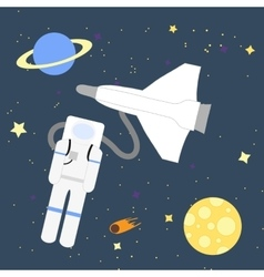 Space adventurer astronaut vector image