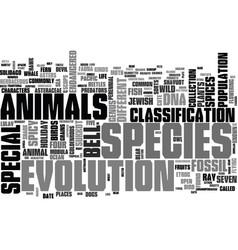 species word cloud concept vector image