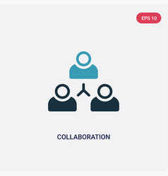 two color collaboration icon from strategy vector image