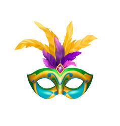 Venetian carnival mask composition vector