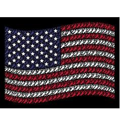 waving united states flag stylization of human vector image
