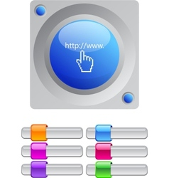 Www click color round button vector