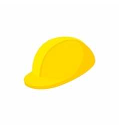 Yellow hardhat icon cartoon style vector image