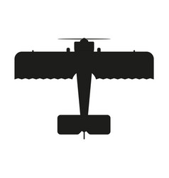 aircraft sign black icon on vector image