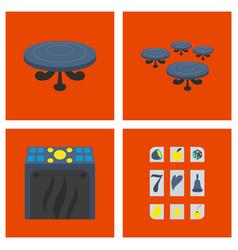gambling icons set card and casino poker game vector image