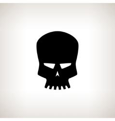 Silhouette Robot Skull on a Light Background vector image