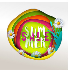 summer sale paper art vector image