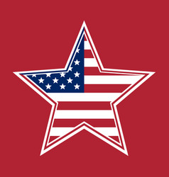 us flag in the shape of a star vector image