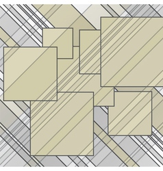 abstract lines squares vector image vector image