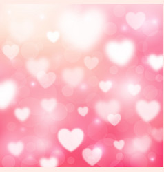 abstract romantic pink background with hearts and vector image